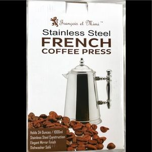 French coffee press stainless steel brand new